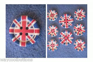ENGLAND GREAT BRITAIN UK UNION JACK FLAG 8 BLAZER JACKET PLASTIC