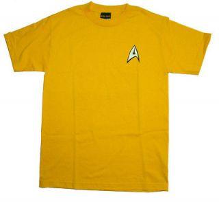 Star Trek Captain Kirk Command Uniform Costume T Shirt 2XL