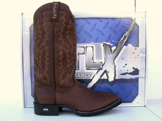 Tony Lama TLX Mens Briar Pitstop Leather Cowboy Boots