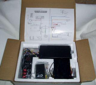 CAT Remote Car Starter Kit Box Instructions Item #RS110
