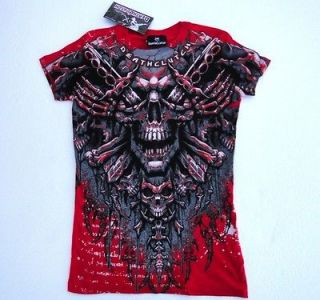 DEATHCLUTCH RED SPINAL TEE WOMENS SIZE LARGE BROCK LESNAR UFC