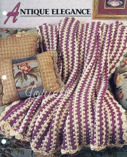Crochet Afghan Patterns N Hook : Mitered Squares in a Trellis (Afghan) Annies Scrap Crochet ...