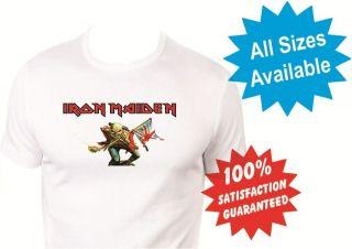 iron maiden boys girls kids T Shirt New White Custom Print Tee