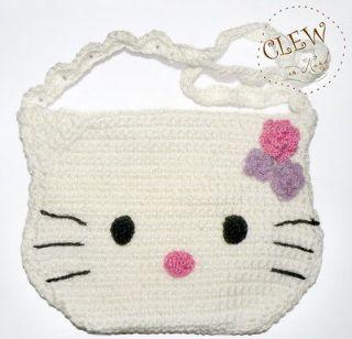 Hello Kitty Bag for baby girl Handmade Crocheted