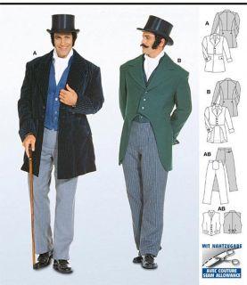 Victorian era Jacket, Vest & Pants Sewing Pattern 34 50   Burda 2767