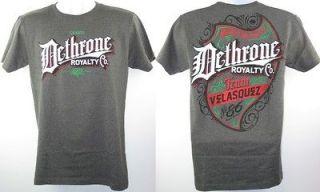 Cain Velasquez UFC Dethrone Royalty Vintage Heather Gray T shirt New