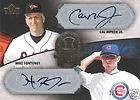 Cal Ripken Mike Fontenot 2007 UD Exquisite All Rookie Signature Auto