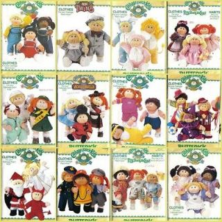 Vtg Cabbage Patch Kids 16 Doll Clothes Butterick Sewing Pattern W