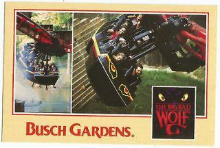 Busch Gardens Williamsburg VA Big Bad Wolf Vintage Postcard