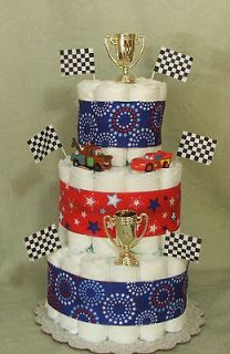 Tier Diaper Cake Disney CARS Baby Shower Centerpiece Boy or Girl
