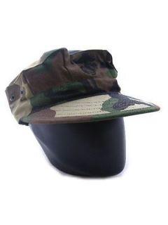 USMC US Army Marine Camo Woodland Cadet Patrol Hat Cap
