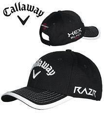CALLAWAY 2012 TOUR MESH ADJUSTABLE CAP HAT BLACK MENS ONE SIZE FITS