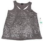 CALVIN KLEIN Womens Sequin Knotted Tank Top Shirt NWT $