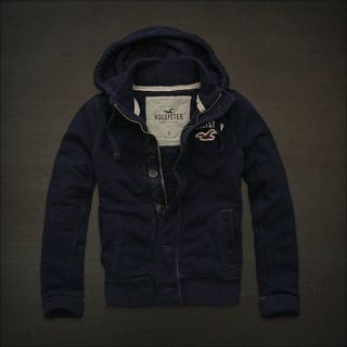 NEW HOLLISTER MENS BELMONT SHORE HOODIE JACKET COAT size SMALL