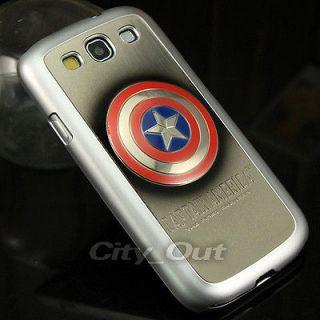 3D Avengers Captain America Shield Plating Hard Case For Samsung