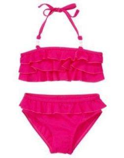 NWT Gymboree CAPE COD CUTIE Pink 2 Pc Ruffle Bikini Swimsuit