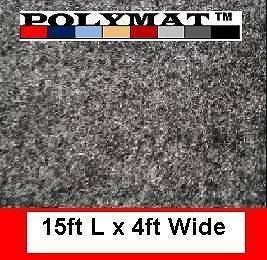 48 Charcoal CHR33 Polymat teardrop camper trailer bunk liner Carpet