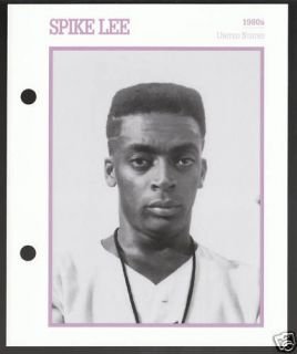 SPIKE LEE Atlas Movie Star Picture Biography CARD