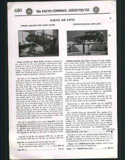 1928 ad Curtis Air Lifts Repair Garage Gas Station Car Auto Rack Ozone
