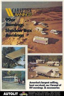 1975 Carefree Awning Motorhome Travel Trailer Brochure