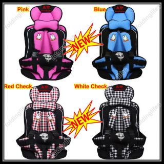 Toddler Auto Car Safety Booster Seat Cover Harness Cushion Belt