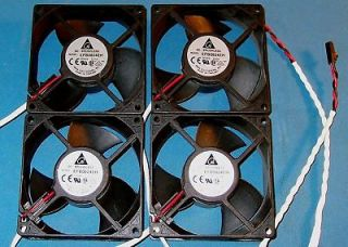 4PC LOT 24VDC 80MM BRUSHLESS FAN DELTA #EFB0824EH   NOS