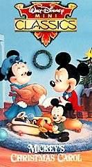 Walt Disney Mini Classics   Mickeys Christmas Carol VHS, 1994