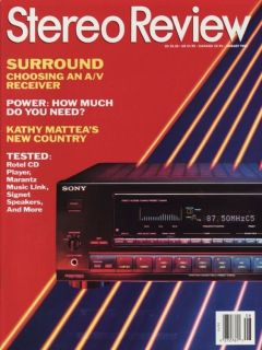 Stereo Review Magazine - 1980 - All 12 Issues