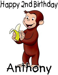 Personalized Curious George Cartoon Character Birthday T Shirt Toddler
