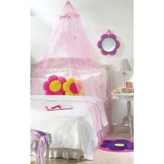 Nib Cute Pin Butterfly Girls Bed Canopy, Perfect For A Princess