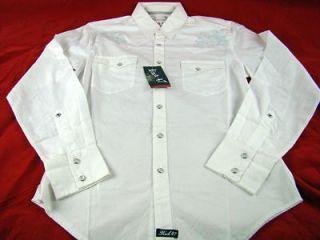 Mens Wrangler Rock 47 Shirt Embroidered long sleeve shirt NWT Any Sz S