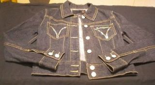 studded jean jacket in Womens Clothing