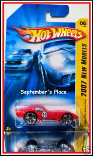 2007 Hot Wheels # 006 Shelby Cobra Daytona Coupe Red