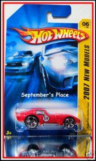2007 Hot Wheels # 006 Shelby Cobra Daytona Coupe Red
