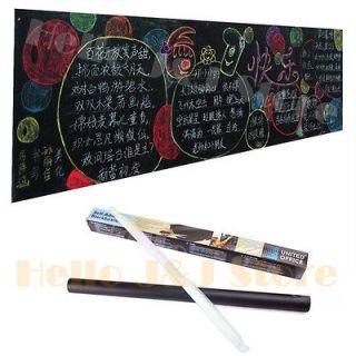 Blackboard Chalkboard Board Wall Paper Decal Sticker 5 Chalks DIY