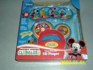 MICKEY MOUSE CLUBHOUSE SING WITH ME CD PLAYER BRAND NEW DISNEY