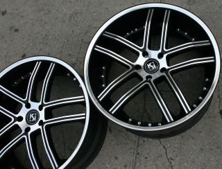 KUTURE INTAKE 22 BLACK RIMS WHEELS DODGE CHARGER V6 BASE RWD 07 up