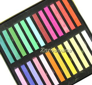 Color Non toxic Temporary Pastel Square Hair Chalk High Quality in Box
