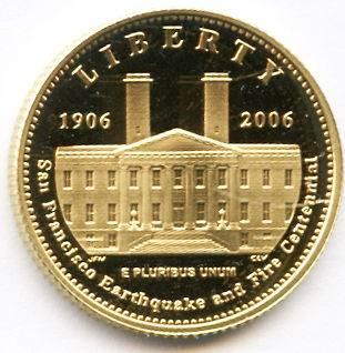 EARTHQUAKE & FIRE CENTENNIAL 5 DOLLAR 1/4 OZ GOLD PROOF COIN
