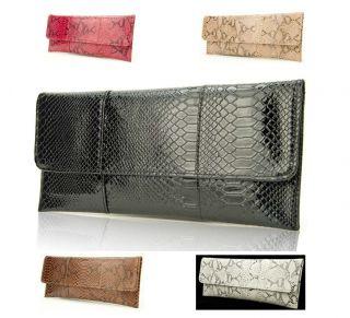 Women PU PVC Evening Clutch Bag Shoulder Handbag Python Snake