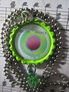 Foster The People Green Bottlecap with Ball Chain Necklace