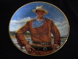 WAYNE Collector Plate THE DUKE Franklin Mint Heirloom Series TANENBAUM