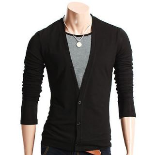Youstars Mens Casual V neck Cardigan Sweater BLACK XL[US Large] (T131Z