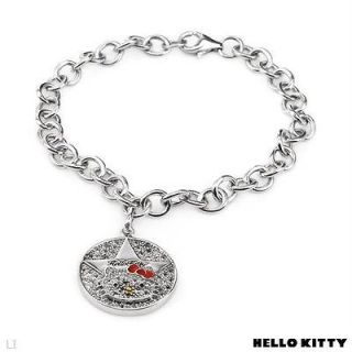 sterling silver hello kitty bracelet in Fine Jewelry