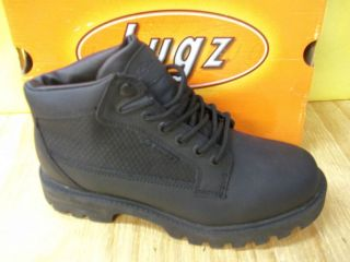 L34 Mens Lugz Black Leather Boots   CHEAP PRICE GREAT FOR WORK