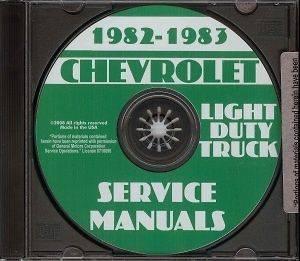 CHEVROLET 1982 & 1983 Pick Up Truck, Blazer, Suburban & Van Shop