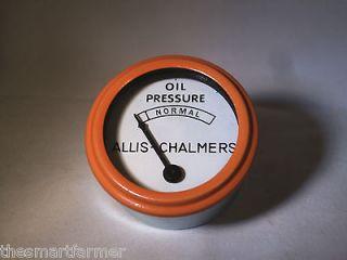 New Allis Chalmers B C G WC WD45 WF Orange Oil Pressure Gauge 70207834