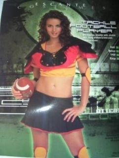 Tackle Football Player Halloween Costume Skirt Pads Ladies S M L XL