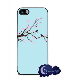 Cherry Blossom Tree with Love Birds   iPhone 5 Slim Case, Cell Cover