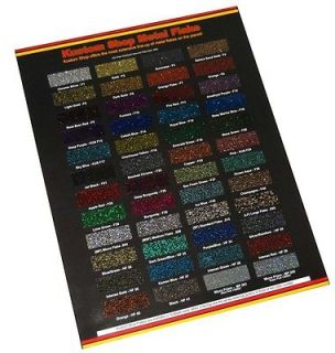 Metal Flake CHIP COLOR CHART Auto Car Paint Gun Custom Shop HOK PPG